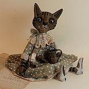 Куклы и игрушки ручной работы. Ярмарка Мастеров - ручная работа Примитивная кукла кошка)). Handmade.
