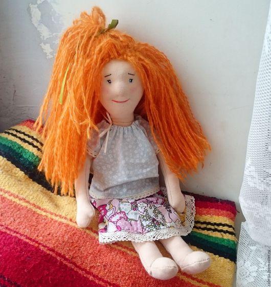 Коллекционные куклы ручной работы. Ярмарка Мастеров - ручная работа. Купить Миранда. Handmade. Рыжий, текстильная игрушка, 100% шерсть