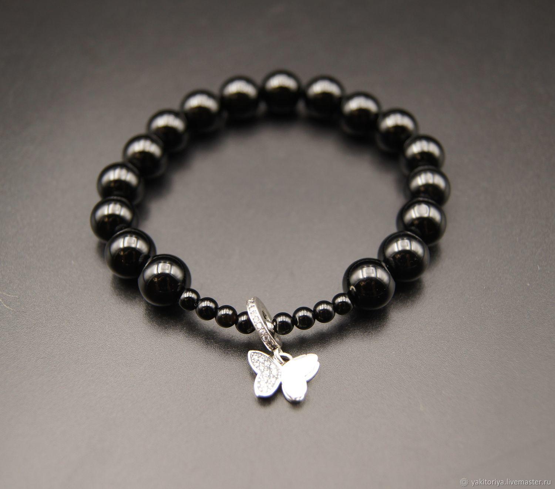Elastic bracelet made of natural onyx, Bead bracelet, Moscow,  Фото №1