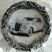 """Посуда ручной работы. Ярмарка Мастеров - ручная работа Тарелка подарочная """"Ретро машина""""!!!. Handmade."""