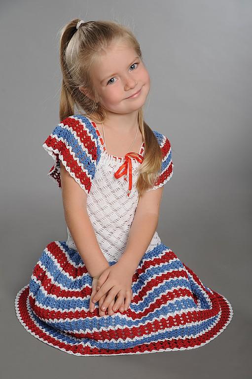 Детское вязанное платье доставка