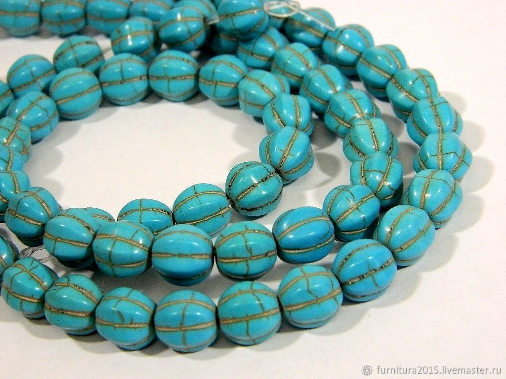 Natural howlite, beads. for PCs, Beads1, Saratov,  Фото №1