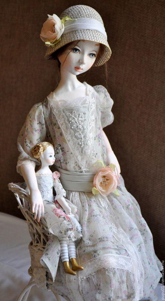 Коллекционные куклы ручной работы. Ярмарка Мастеров - ручная работа. Купить авторская кукла Маргарита. Handmade. Серый, Паперклей