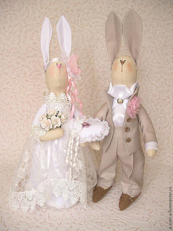 Кукла тильда в свадебном платье