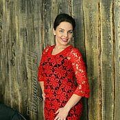 """Одежда ручной работы. Ярмарка Мастеров - ручная работа Платье """"Роковой красный"""". Handmade."""