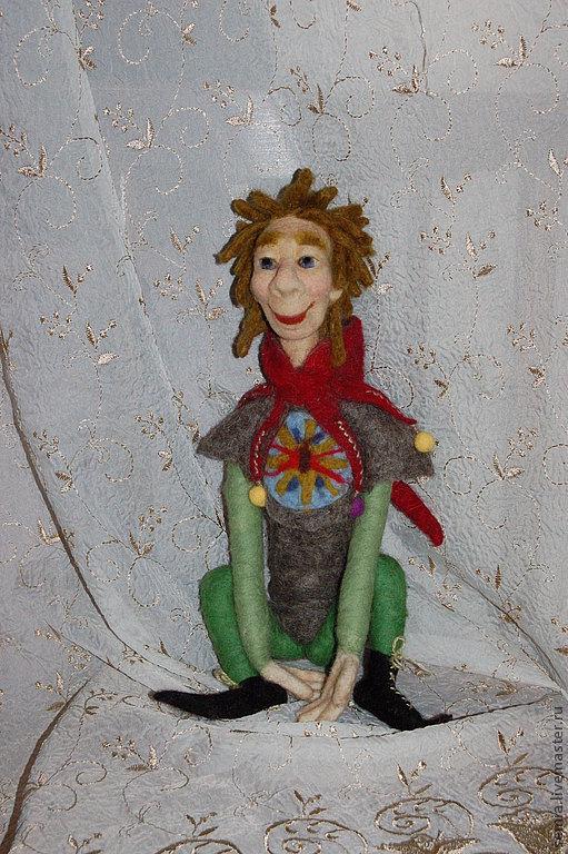 Коллекционные куклы ручной работы. Ярмарка Мастеров - ручная работа. Купить Шут. Handmade. Шут, войлочная игрушка, персонаж
