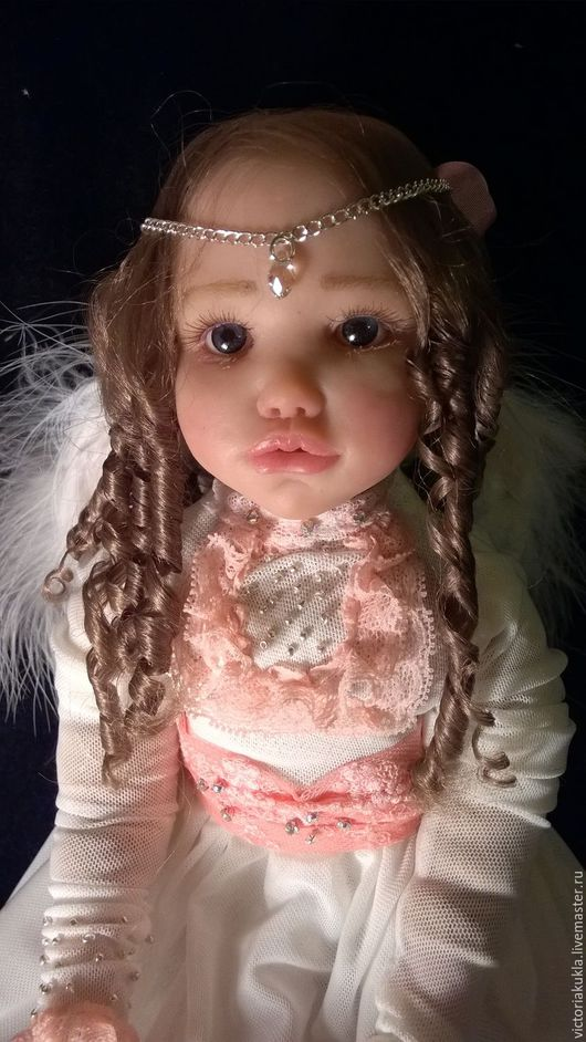 Коллекционные куклы ручной работы. Ярмарка Мастеров - ручная работа. Купить Авторская кукла ООАК Скарлет. Ангел 34.5 см. Handmade.
