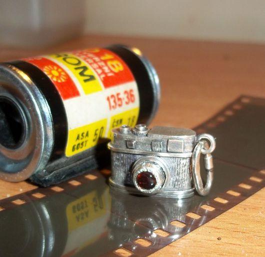 Pendants handmade. Livemaster - handmade. Buy 'The kid' camera 'Leica M9'.Pendant, 925 sterling silver