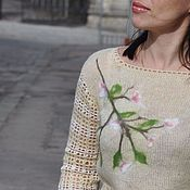 Одежда handmade. Livemaster - original item mohair knitted spring sweater