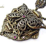 handmade. Livemaster - original item Vintage style. Rubies, pearls Kasumi. Necklace
