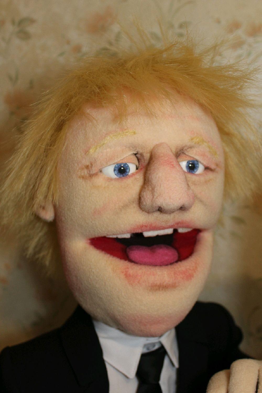 Борис Джонсон, портретная театральная паппет кукла на заказ, Портретная кукла, Пермь,  Фото №1