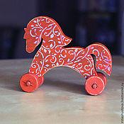 Куклы и игрушки ручной работы. Ярмарка Мастеров - ручная работа лошадка узорная. Handmade.