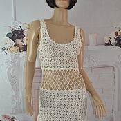 Одежда handmade. Livemaster - original item Beach tunic, cotton, ,42-46p.. Handmade.