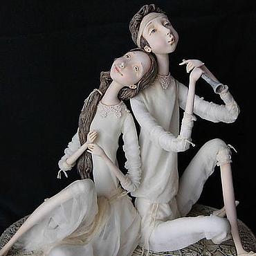 """Куклы и игрушки ручной работы. Ярмарка Мастеров - ручная работа """"Мелодия для двоих"""". Handmade."""