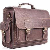 Сумки и аксессуары handmade. Livemaster - original item Leather briefcase Voyager brown. Handmade.
