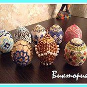Яйца ручной работы. Ярмарка Мастеров - ручная работа Пасхальные яйца из бисера. Handmade.