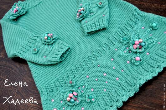 Одежда для девочек, ручной работы. Ярмарка Мастеров - ручная работа. Купить Платье  - Цветущая ВЕСНА для Оксаны. Handmade. Мятный