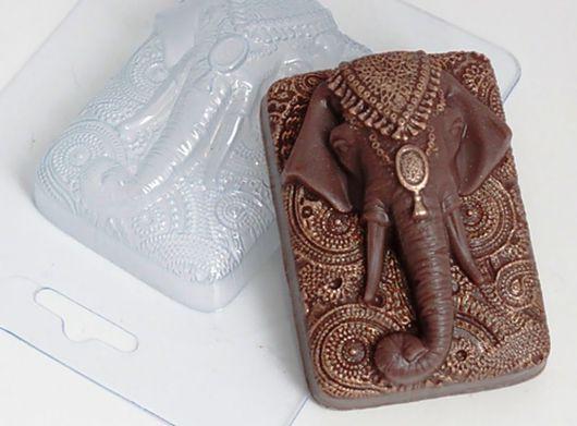 `Слон индийский` форма для мыла пластиковая