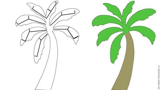 Детская ручной работы. Ярмарка Мастеров - ручная работа. Купить ЭСКИЗ. Стеллаж-пальма. На заказ.. Handmade. Зеленый, пальма