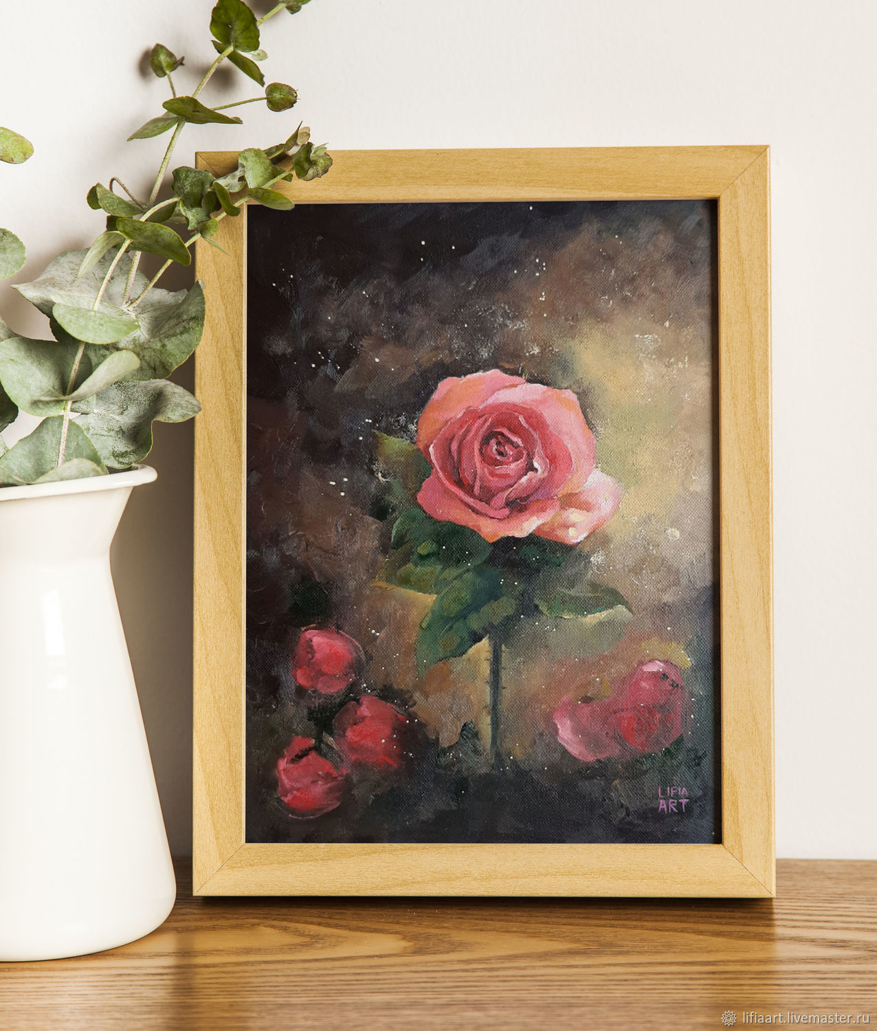 Painting with flowers ' Rose and ashes', Pictures, Belgorod,  Фото №1