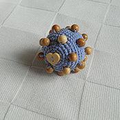 Куклы и игрушки ручной работы. Ярмарка Мастеров - ручная работа Тактильный мячик-погремушка. Handmade.