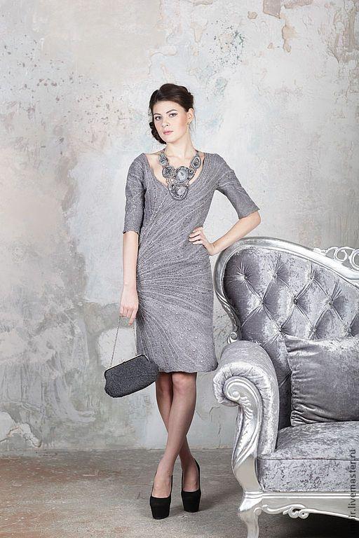 """Платья ручной работы. Ярмарка Мастеров - ручная работа. Купить Платье """"Северная Венеция"""" (продано). Handmade. Серый, платье"""