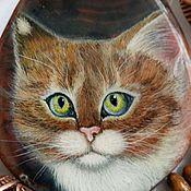 Украшения handmade. Livemaster - original item Fluffy decoration / pendant / necklace with miniature paintings. Handmade.