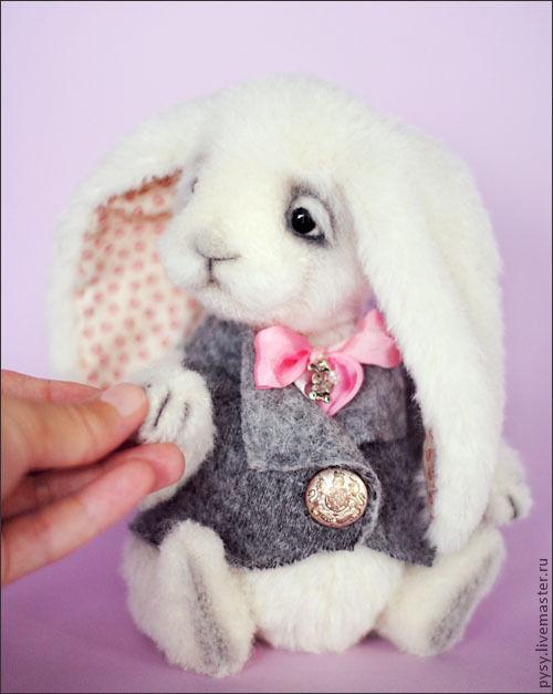 Мишки Тедди ручной работы. Ярмарка Мастеров - ручная работа. Купить кролик Дарси. Handmade. Белый, нежный, бело-розовый