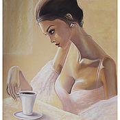 Картины и панно ручной работы. Ярмарка Мастеров - ручная работа Кофейные мысли. Handmade.