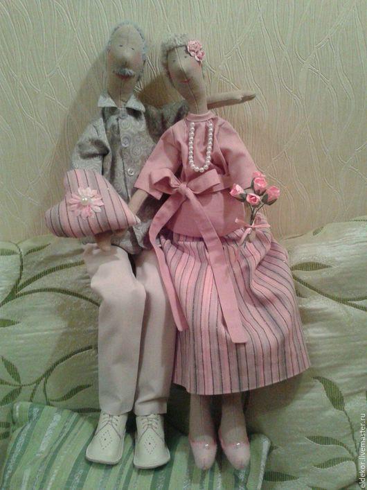 Куклы Тильды ручной работы. Ярмарка Мастеров - ручная работа. Купить Семейная пара в стиле Тильда. Handmade. Тильда кукла