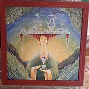 Картины и панно ручной работы. Ярмарка Мастеров - ручная работа Чайная фея. Handmade.