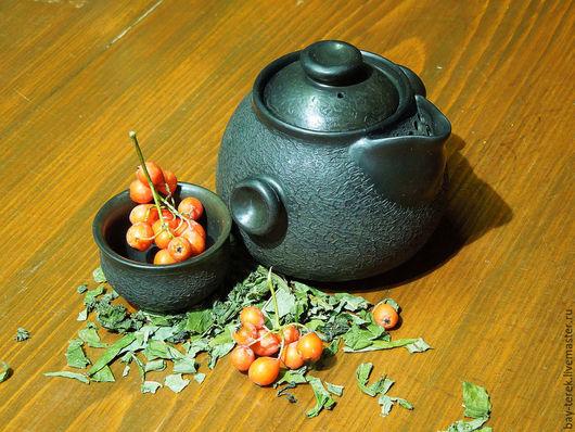"""Чайники, кофейники ручной работы. Ярмарка Мастеров - ручная работа. Купить Гайвань """"Машинариум"""" керамика. Handmade. Черный, гончарная посуда"""