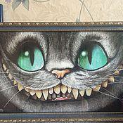Картины и панно ручной работы. Ярмарка Мастеров - ручная работа Чеширский кот. Handmade.