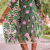 """Одежда ручной работы. Ярмарка Мастеров - ручная работа Кардиган крючком """"Цветущий сад"""". Handmade."""