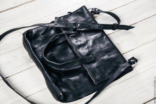 Мужские сумки ручной работы. Ярмарка Мастеров - ручная работа. Купить Folding bag. Handmade. Черный, dark fashion