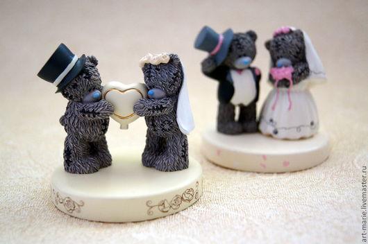 Свадебные аксессуары ручной работы. Ярмарка Мастеров - ручная работа. Купить TEDDY LOVE..фигурки для торта. Handmade. Teddy bear