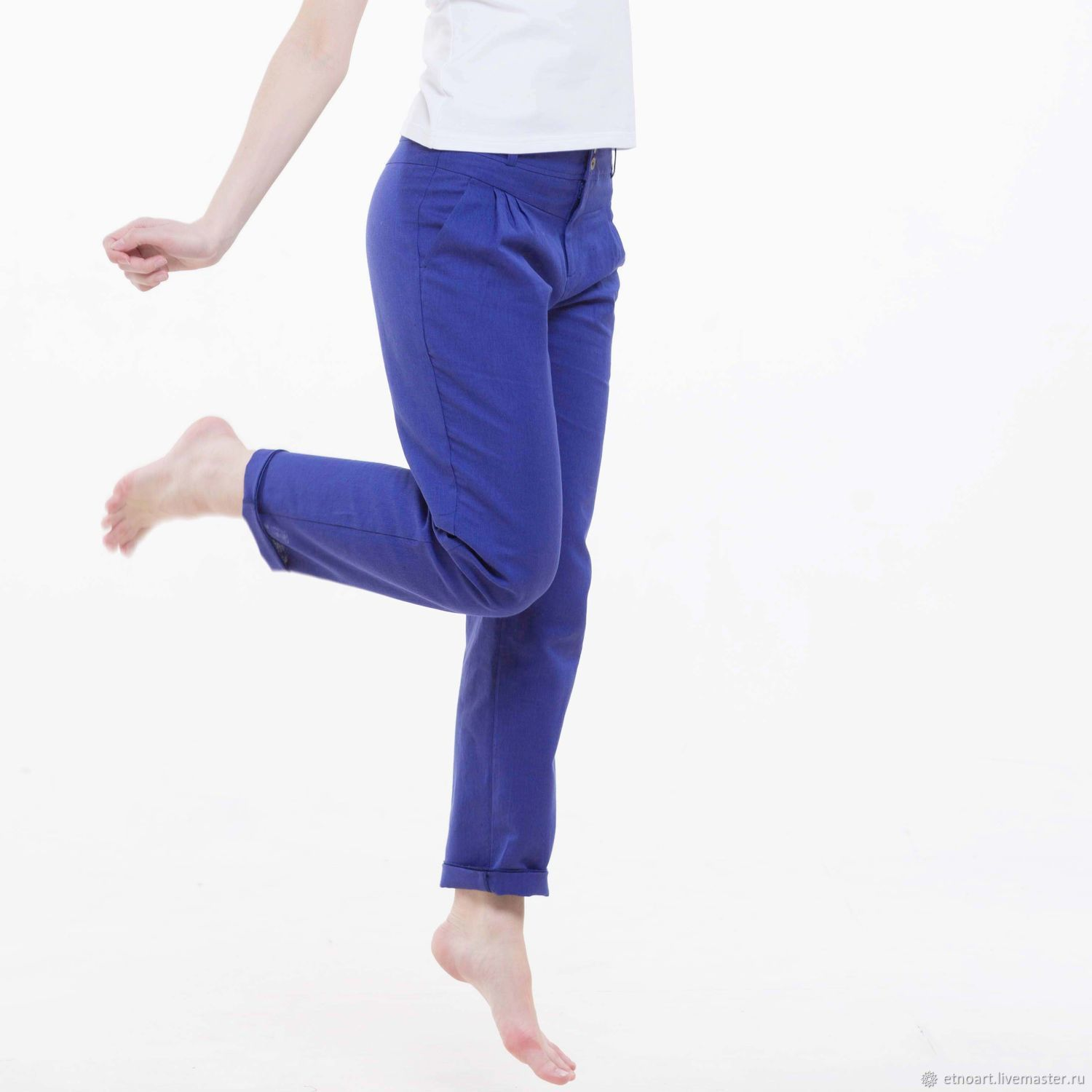 Chinos trousers made of 100% linen, Pants, Tomsk,  Фото №1
