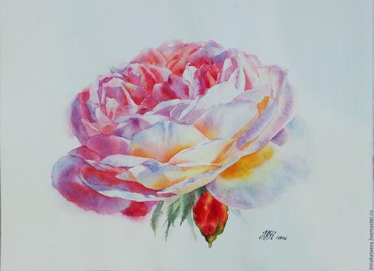 Интерьерные слова ручной работы. Ярмарка Мастеров - ручная работа. Купить Картина Rose5. Handmade. Розовый, картина для интерьера, нежность