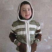 Работы для детей, ручной работы. Ярмарка Мастеров - ручная работа Кофта для мальчика на замке. Handmade.