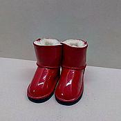 Обувь ручной работы. Ярмарка Мастеров - ручная работа Сапожки детские красные. Handmade.