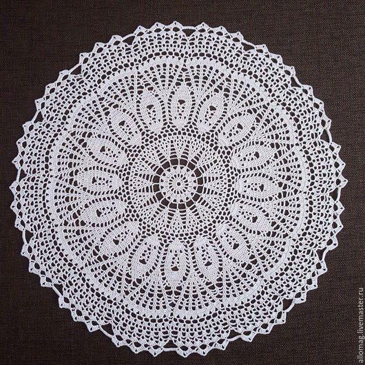 Текстиль, ковры ручной работы. Ярмарка Мастеров - ручная работа. Купить Кружевная салфетка. Handmade. Белый, салфетка, кружево