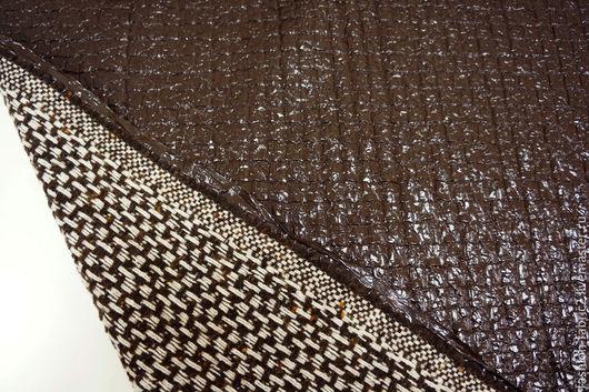 Шитье ручной работы. Ярмарка Мастеров - ручная работа. Купить Курточная шерсть лакированная коричневая 1101613 Италия Цена за метр. Handmade.