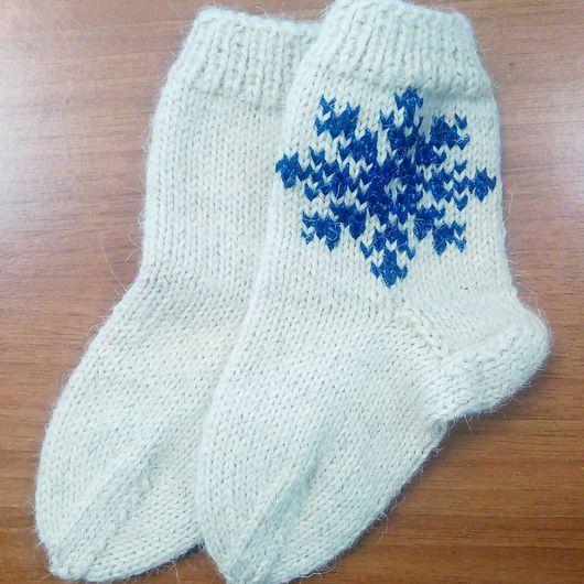 """Обувь ручной работы. Ярмарка Мастеров - ручная работа. Купить Носочки """"Снежинка"""". Handmade. Носки ручной работы, носки"""