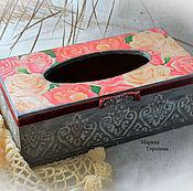 Для дома и интерьера handmade. Livemaster - original item Box for napkins