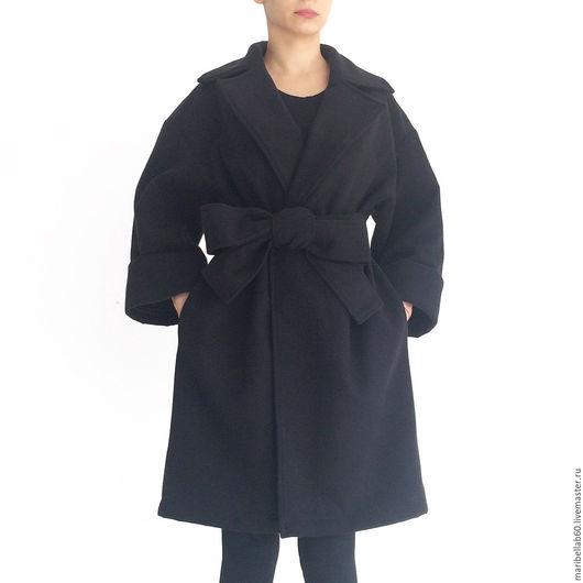 Верхняя одежда ручной работы. Ярмарка Мастеров - ручная работа. Купить WINTER женские негабаритных свободную черную куртку пальто. Handmade.