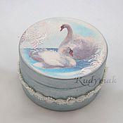 Для дома и интерьера ручной работы. Ярмарка Мастеров - ручная работа шкатулка Лебеди. Handmade.