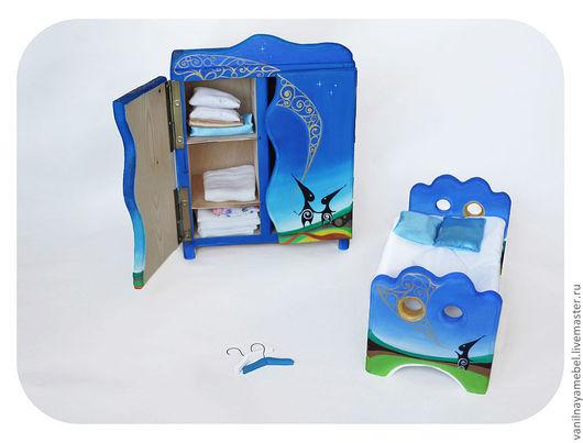 """Кукольный дом ручной работы. Ярмарка Мастеров - ручная работа. Купить Мебель для кукол """"Ночь, когда сбываются мечты"""". Handmade."""