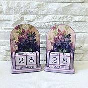 Канцелярские товары handmade. Livemaster - original item Perpetual calendar lilac. Handmade.