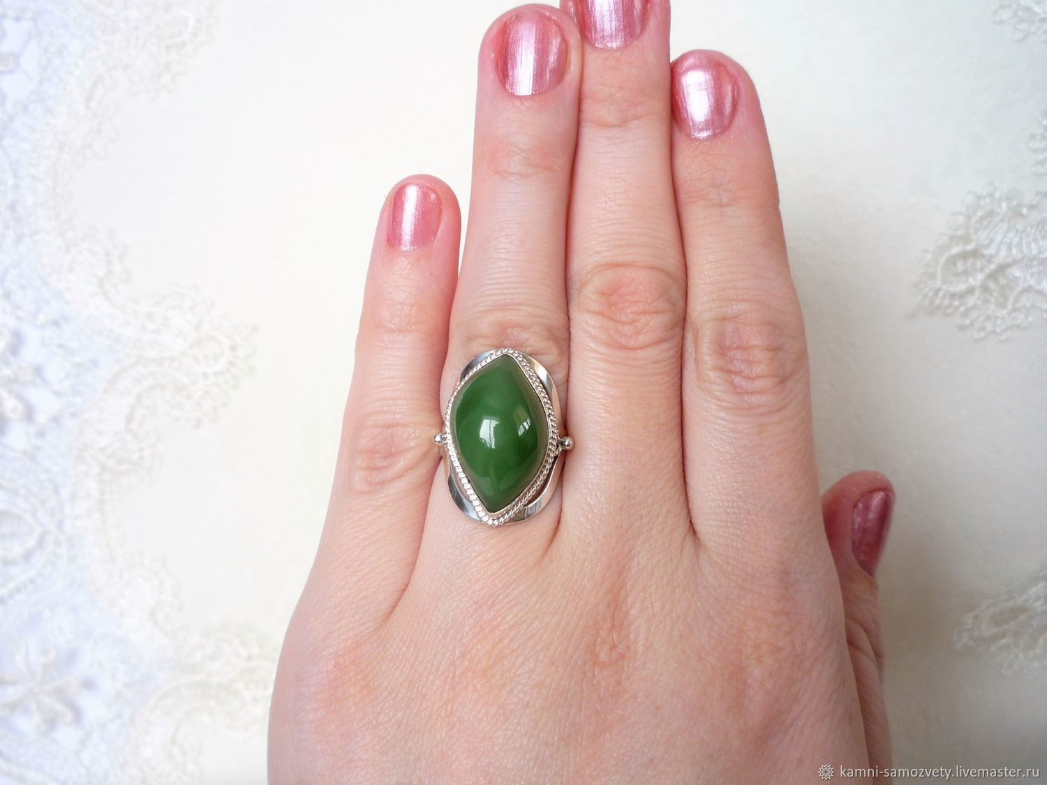 Ring of jade – shop online on Livemaster with shipping - EWPUVCOM ...