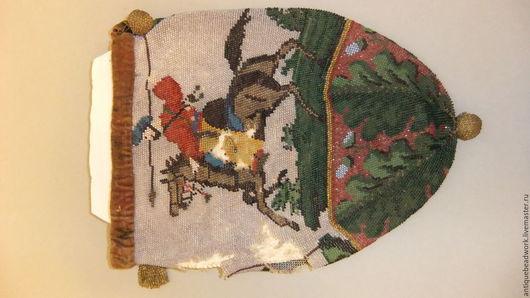 Винтажные сумки и кошельки. Ярмарка Мастеров - ручная работа. Купить Антикварная бисерная сумочка. Handmade. Старинный бисер, антикварный бисер